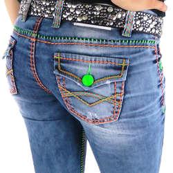 Farbige damen jeans