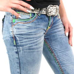 Bestbewertete Mode sehr bequem Release-Info zu Damen Jeans mit bunten Nähten von Cipo & Baxx im Straight ...